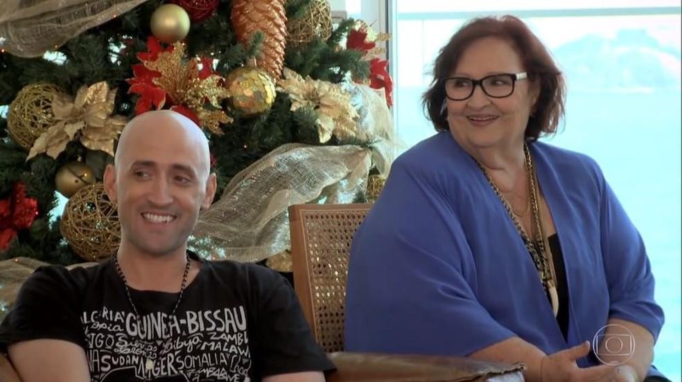 Paulo Gustavo e a mãe, Dona Déa — Foto: Reprodução
