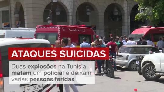 Ataques na Tunísia deixam um policial morto e várias pessoas feridas