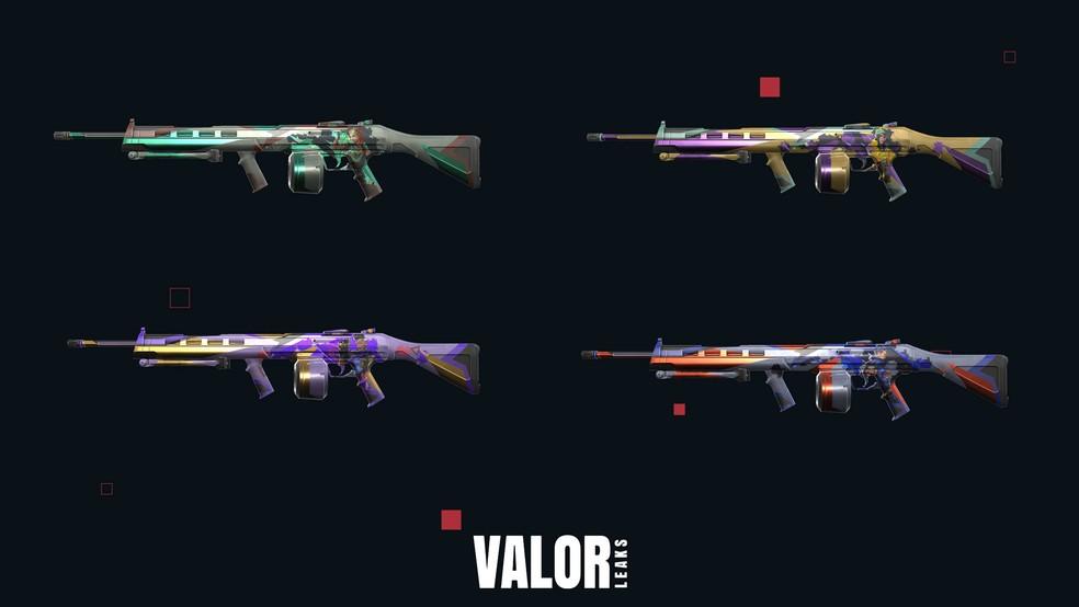 Linha Quebra-cabeça da arma Ares — Foto: Reprodução/Valorleaks