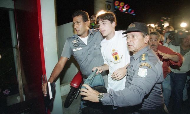 Marcos Fernando Chiesa após ser libertado, em novembro de 1995