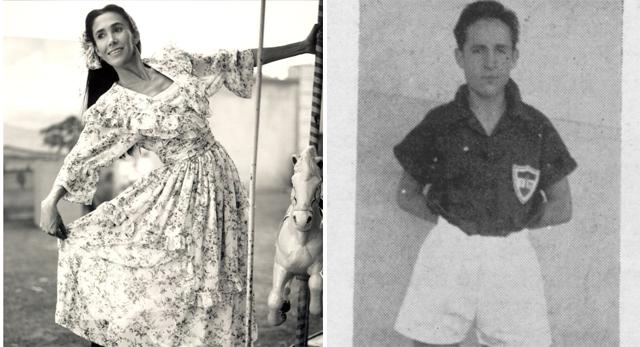 Florinda Meza, a Dona Florinda, e Roberto Bolaños, o Chaves, na adolescência (Foto: Reprodução/Twitter)