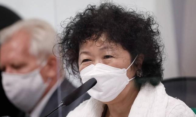 A médica Nise Yamaguchi em depoimento à CPI da Covid