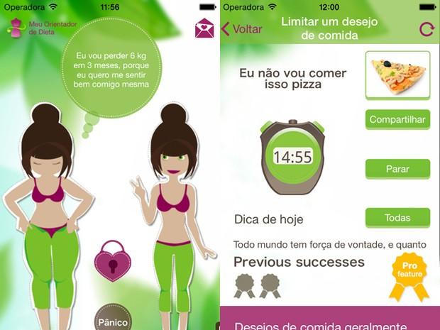 App Meu Orientador de Dieta é voltado exclusivamente para mulheres (Foto: Reprodução)