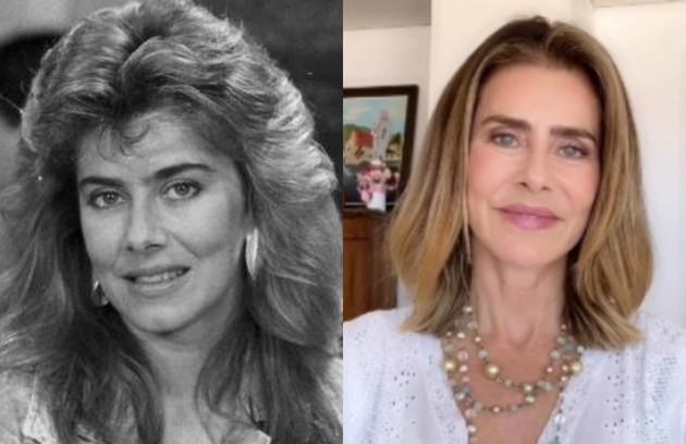 Maitê Proença viveu Camila, uma jovem alegre que se apaixona por Jorge Miguel (Edson Celulari). A atriz fez a série 'Me chama de Bruna', da Fox, em 2017 (Foto: Reprodução)
