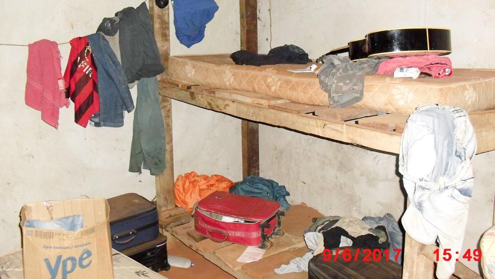 Alojamento dos trabalhadores resgatados em Nova Santa Helena (Foto: Ascom/Ministério do Trabalho)