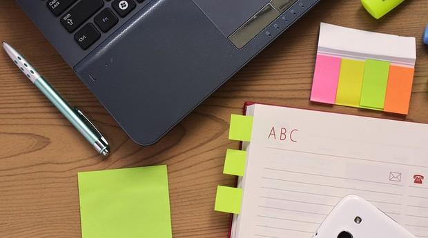 Mesa, organização, trabalho, produtividade (Foto: Pexels)