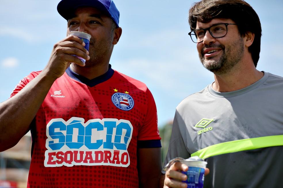 Guilherme Bellintani afirma que o Bahia tenta levar de volta o torcedor negro e mais pobre ao estádio — Foto: Felipe Oliveira / EC Bahia / Divulgação