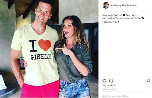 Tom Brady e Gisele Bündchen (Foto: Reprodução/Instagram)