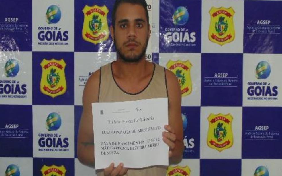 Luiz Gonzaga Abreu Neto, que fugiu da cadeia de Uruaçu, em Goiás — Foto: DGAP/Divulgação