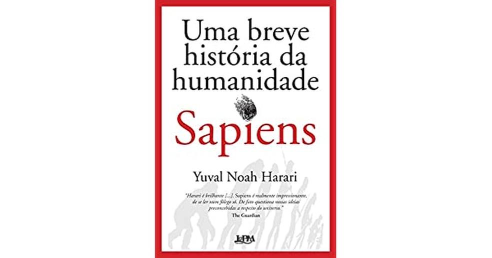"""Livro """"Sapiens - Uma breve história da humanidade"""" — Foto: Amazon"""