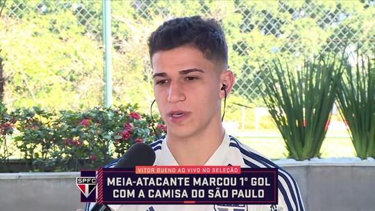 Vitor Bueno cita importância da pausa na Copa América e alegria pelo primeiro gol pelo São Paulo