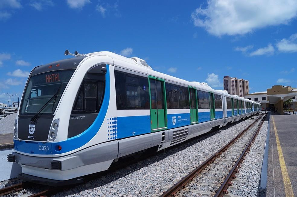 Novas viagens de trens serão implantadas a partir de julho na Grande Natal. — Foto: Divulgação/CBTU