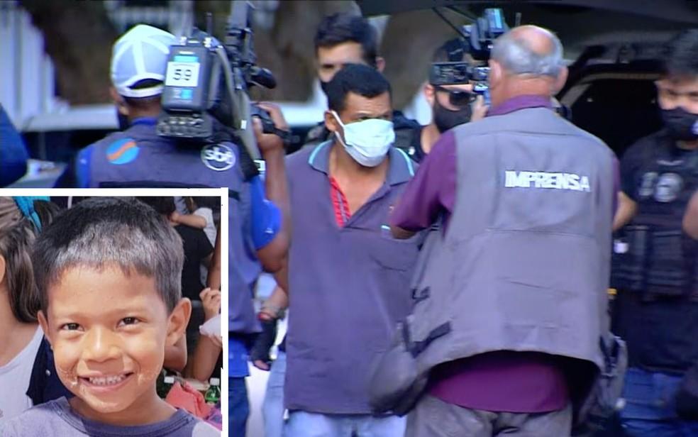 Padrasto é preso como principal suspeito da morte do menino Danilo Sousa, em Goiânia — Foto: Reprodução/TV Anhanguera