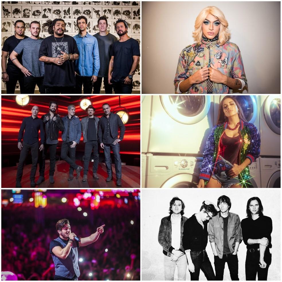 O sábado no Palco Planeta: Onze:20, Pabllo Vittar, Jota Quest, Anitta, Luan Santana e Phoenix (Foto: Divulgação)