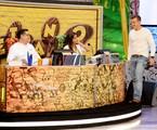Jurados do quadro Soletrando, com Luciano Huck | Matheus Cabral/ TV Globo