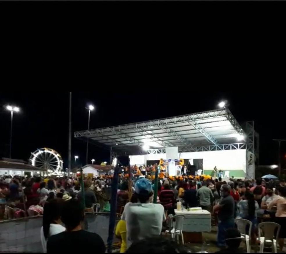 Festa durante pandemia no interior de RR — Foto: Anderson Santos