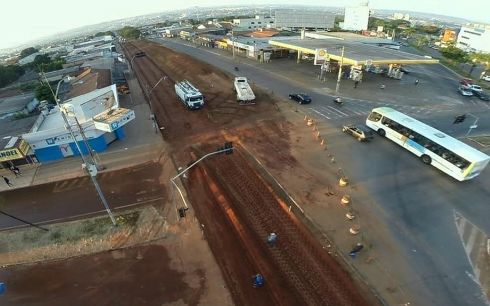 Avenida São Paulo terá trecho de interdição total, em Aparecida de Goiânia (Foto: TV Anhanguera/Reprodução)