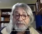 Sérgio Chapelin apareceu no 'Fantástico' para homenagear José-Itamar de Freitas, ex-diretor do programa, com quem ele trabalhou | Reprodução