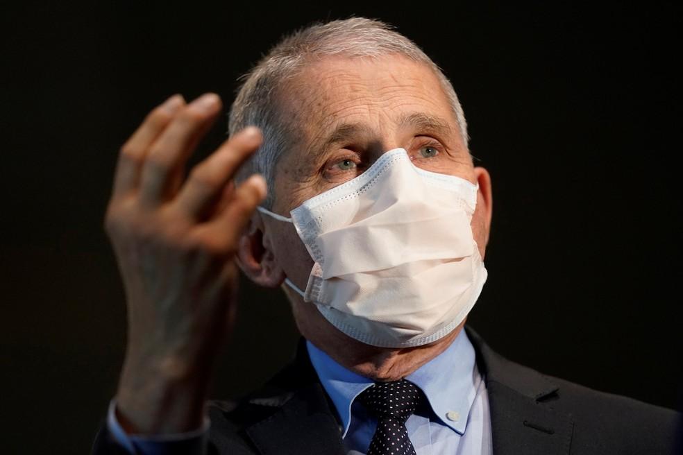 Anthony Fauci, diretor do Instituto Nacional de Alergologia e Infecções dos EUA, em foto de 22 de dezembro de 2020 — Foto: Patrick Semansky/Pool/Reuters