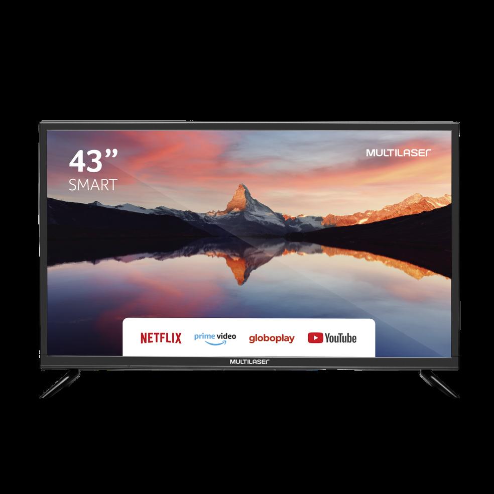 TVs da Multilaser chegam com suporte aos principais apps de streaming e podem trazer conversor digital — Foto: Divulgação/Multilaser