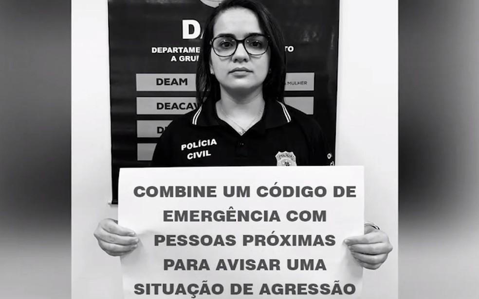 Campanha em Sergipe alerta para subnotificação de denúncias de violência doméstica — Foto: SSP/Reprodução