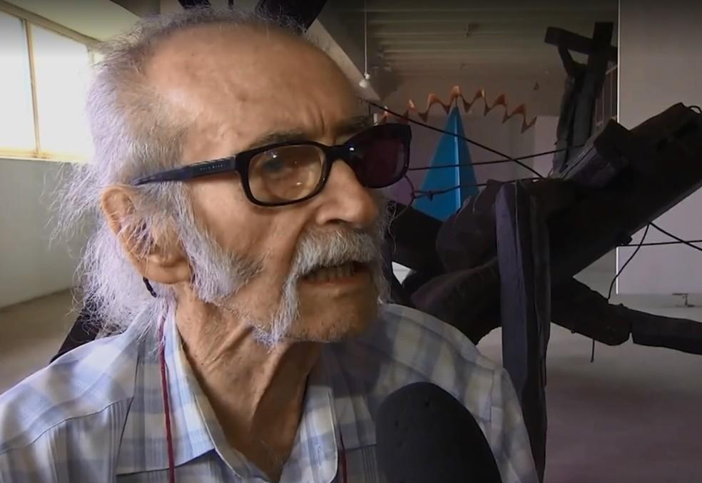 Artista plástico Mário Cravo que morreu aos 95 anos em Salvador (Foto: Reprodução/TV Bahia)