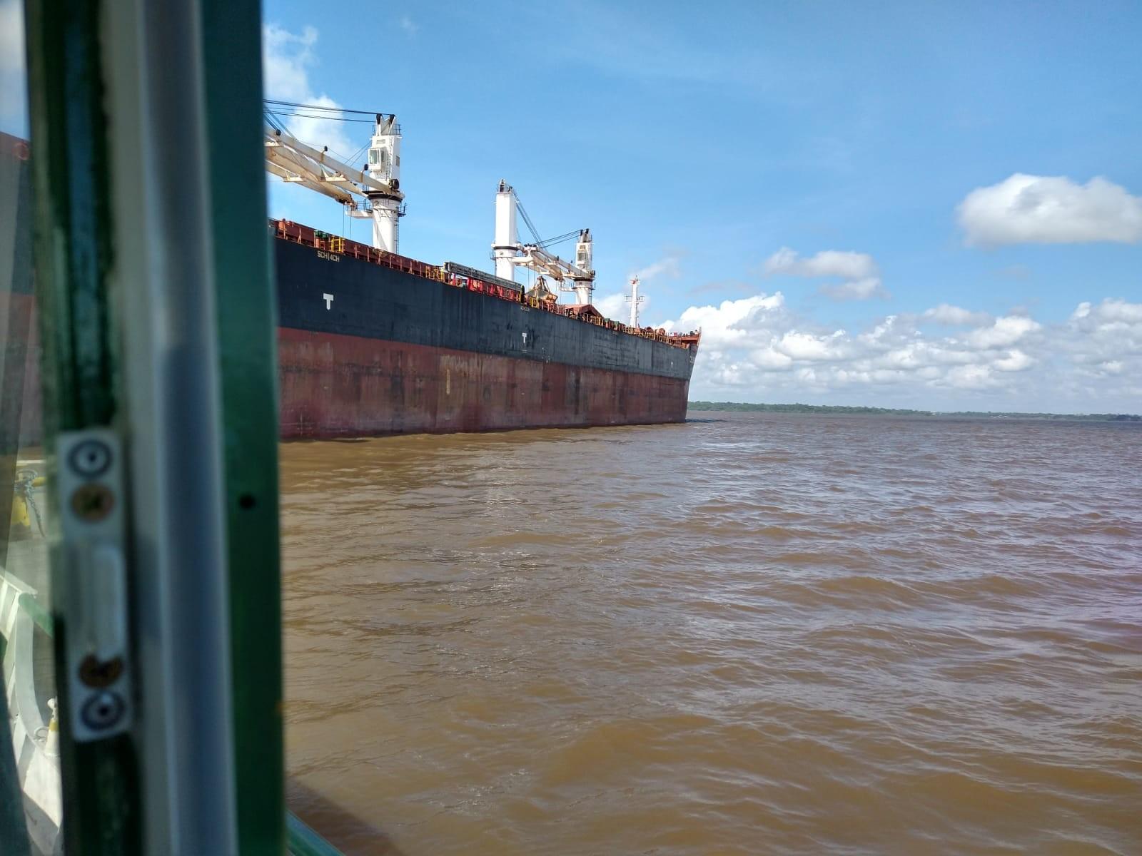 Navio das Bahamas é o 5º a entrar em quarentena na costa do Amapá após casos de Covid-19