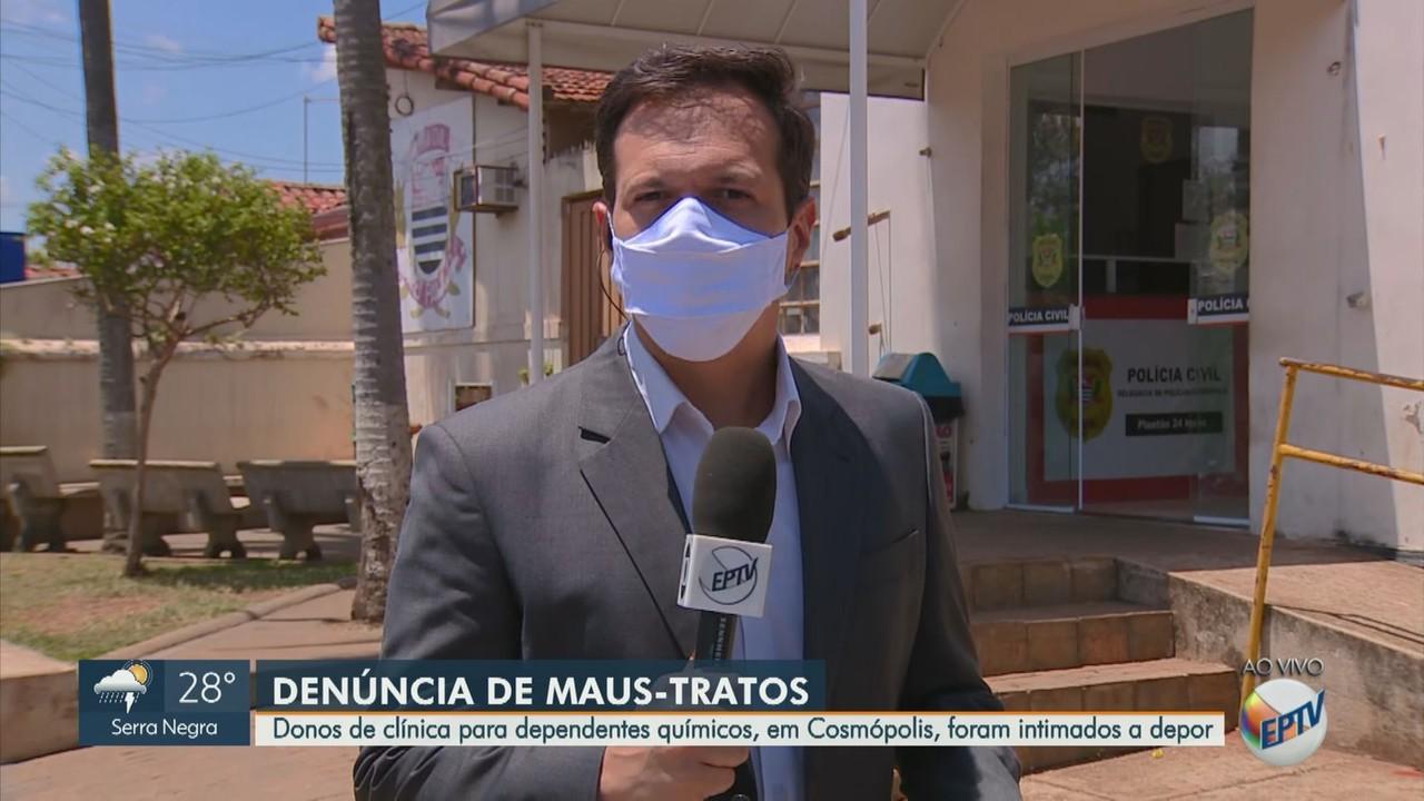 Donos de clínica para dependentes químicos, em Cosmópolis, devem depor por maus tratos