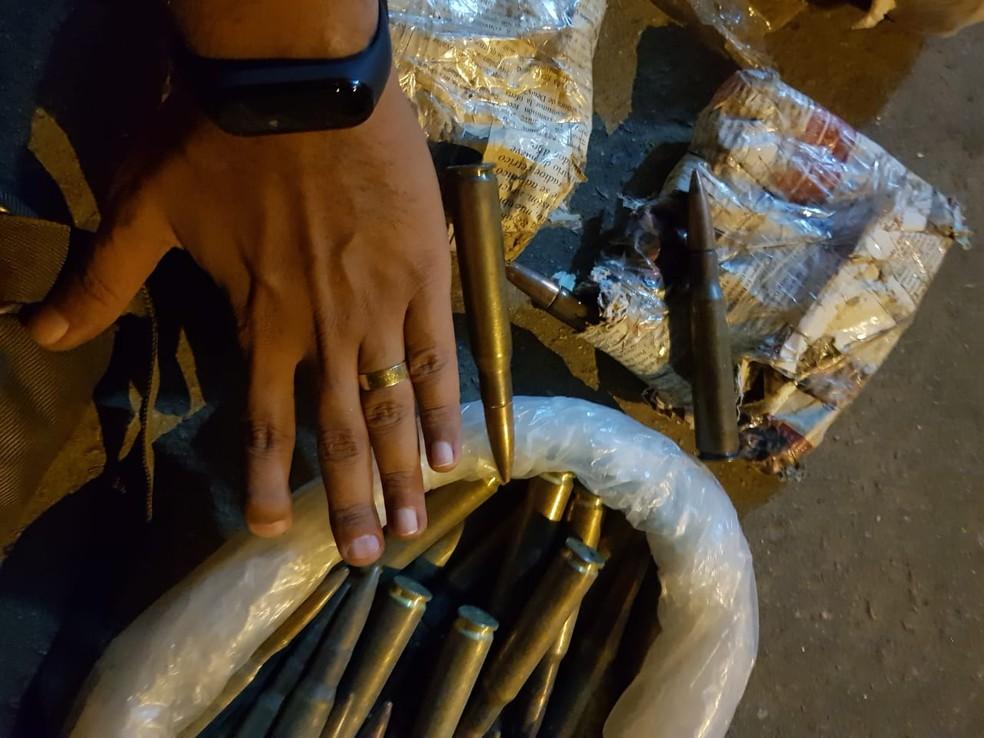 Munições apreendida em Rondônia — Foto: PRF/Divulgação