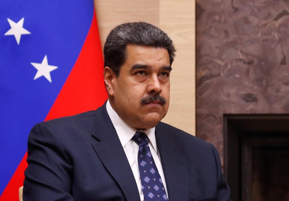 Nicolás Maduro, presidente da Venezuela, em reunião com Vladimir Putin — Foto: Maxim Shemetov/Reuters