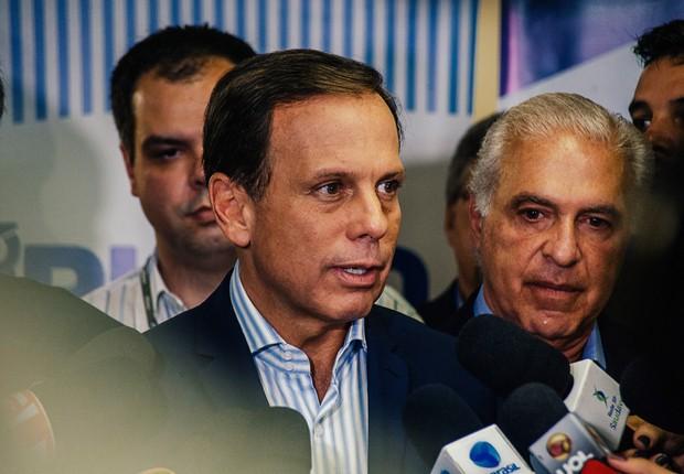 O prefeito de São Paulo, João Doria (PSDB), durante coletiva de imprensa (Foto: Leon Rodrigues/ASCOM-PMSP)