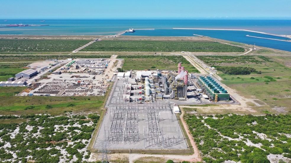 GNA I é a segunda maior termelétrica do Brasil e fica localizada no Porto do Açu, em São João da Barra, no RJ — Foto: Divulgação