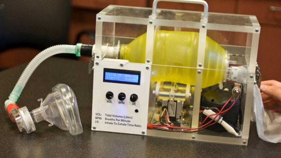 Ventilador desenvolvido pelo MIT pode ajudar a tratar pacientes de Covid-19 nos EUA — Foto: Reprodução/Technology Review