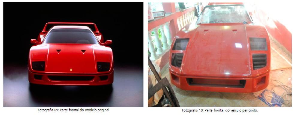 Perícia foi feita comparando o protótipo com fotos do modelo original — Foto: Reprodução