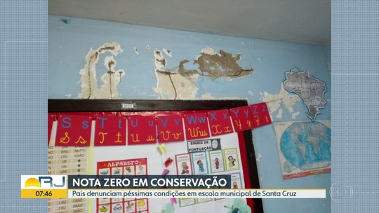 Escola municipal de Santa Cruz está em péssimas condições