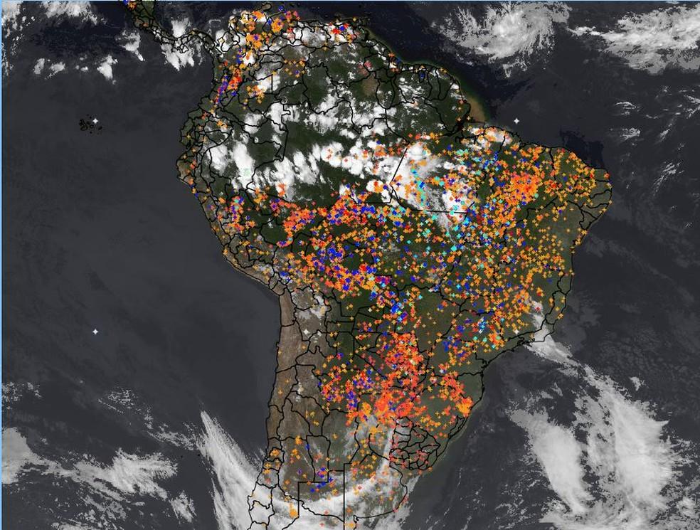 Queimadas: veja dados de focos por regiões e no bioma Amazônia, segundo o  Inpe | Natureza | G1