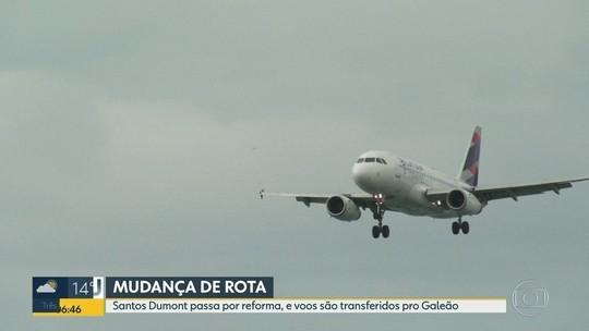 Obra no aeroporto Santos Dumont muda voos para o Galeão, no Rio