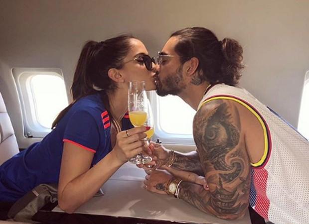 Maluma e a namorada, Natalia Barulich (Foto: Reprodução/Instagram)