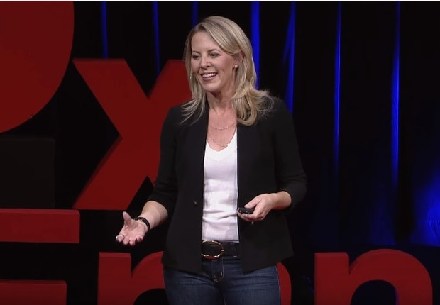Kathryn Haun, especialista em criptomoedas, no TEDx San Francisco (Foto: Reprodução)