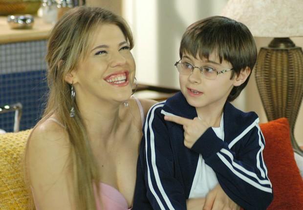 Rafael Miguel contracenou com Bárbara Paz na novela Cristal (2006) (Foto: Divulgação/SBT)