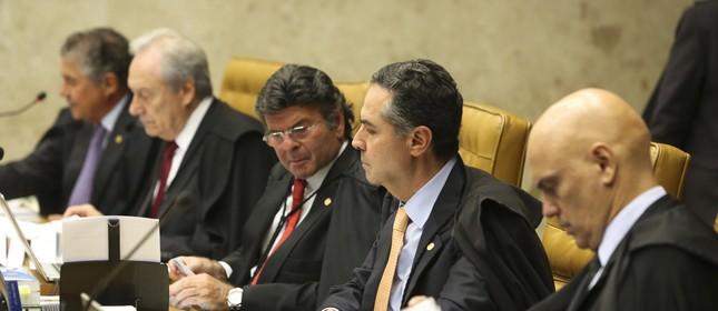 Sessão no Supremo Tribunal Federal, julga o pedido de Habeas Corpus do ex-presidente Lula