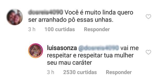 Luísa Sonza rebate comentário de seguidor (Foto: Reprodução)