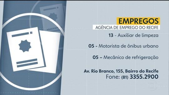 Agências oferecem 48 vagas de emprego em cidades do Grande Recife e da Zona da Mata de Pernambuco