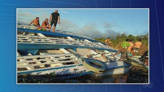 Barco que tombou em rio no AM não tinha autorização para navegar, diz Marinha