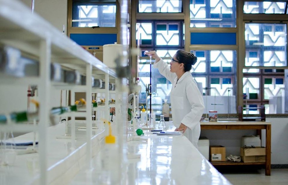 Laboratório da UnB — Foto: IQ/Secom UnB