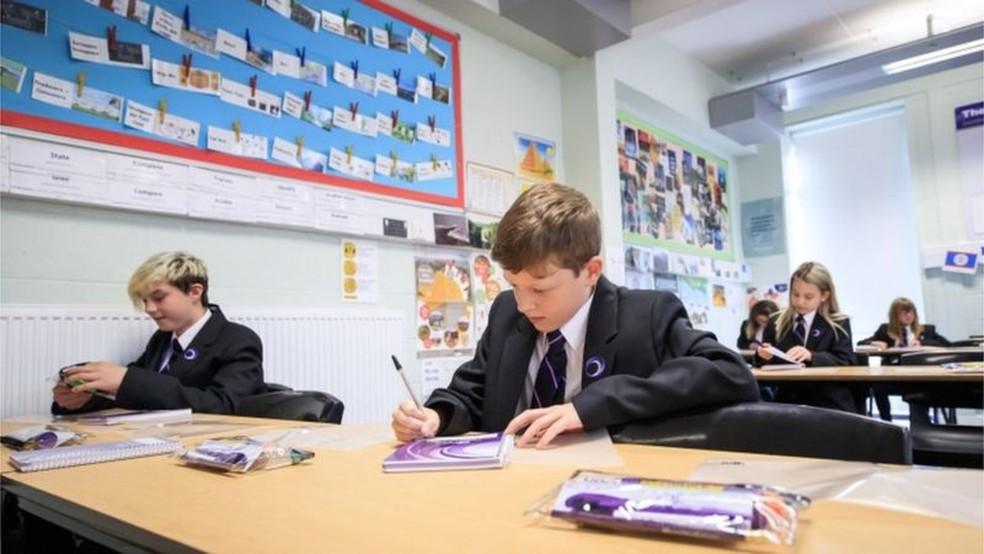 Escolas na Inglaterra reabrem a partir do dia 8 de março. — Foto: PA Media via BBC
