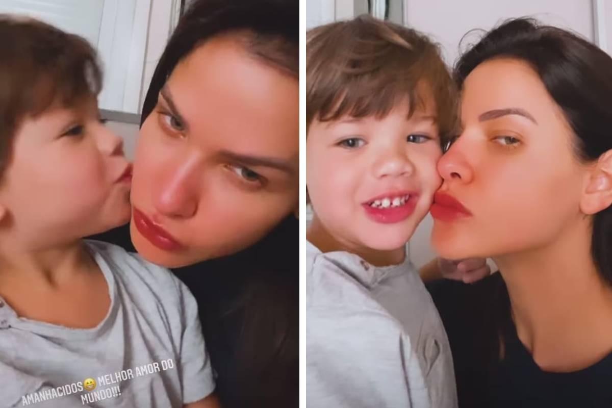 Andressa Suita com o filho (Foto: Reprodução/Instagram)