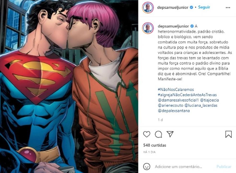 Deputado estadual da Bahia critica superman bissexual — Foto: Reprodução / Redes Sociais