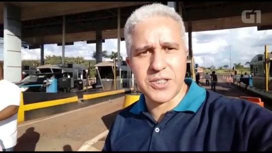 Grupo libera cancelas do pedágio de Jataizinho em protesto contra o valor da tarifa