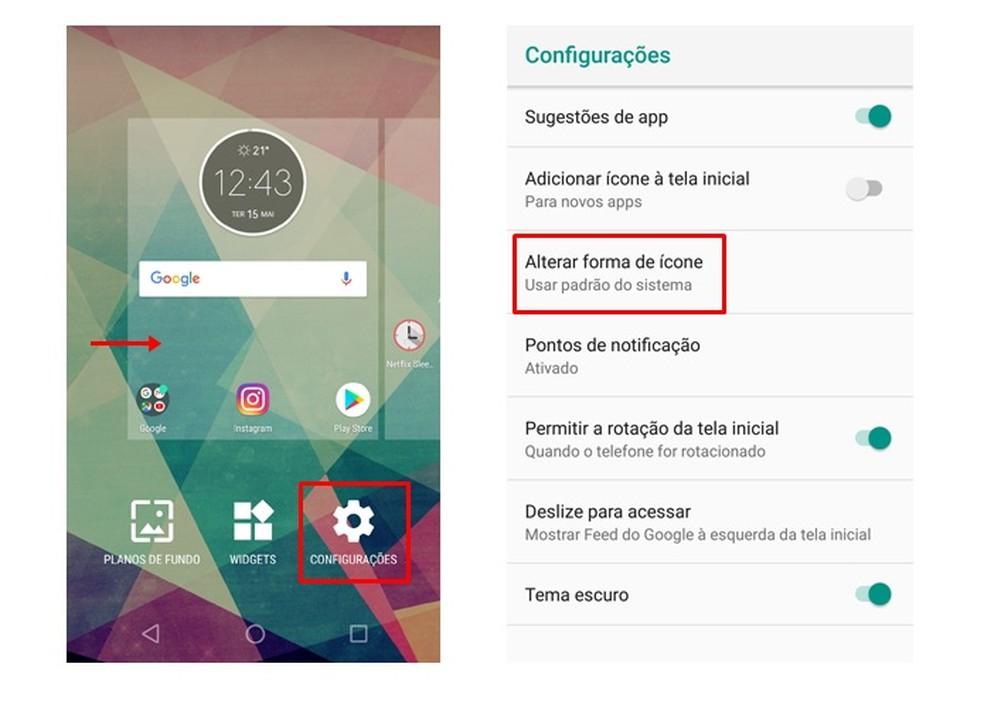 Como Mudar Formato De Icones De Apps No Android O Sistemas